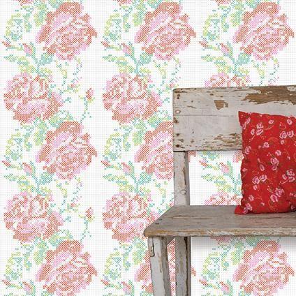 Be You tienerbehang romantisch rozen dessin | Praxis 22,95 euro per rol