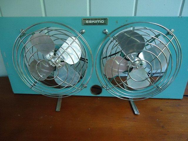 Vintage Fan Eskimo Double Window Fan 1960s Industrial