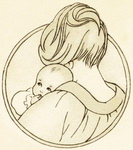 free vintage clipart baby mother holding baby antique baby book image mom and baby graphic baby illustration use for baby nursery