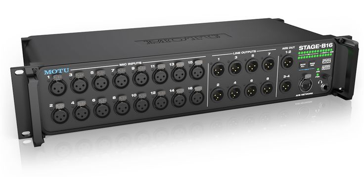 MOTU is now shipping the Stage-B16,a flexible stage box, rack-mount mixer and audio interface with studio-quality analog performance up to 192 kHz, powerful DSP for mixing and effects processing, ...