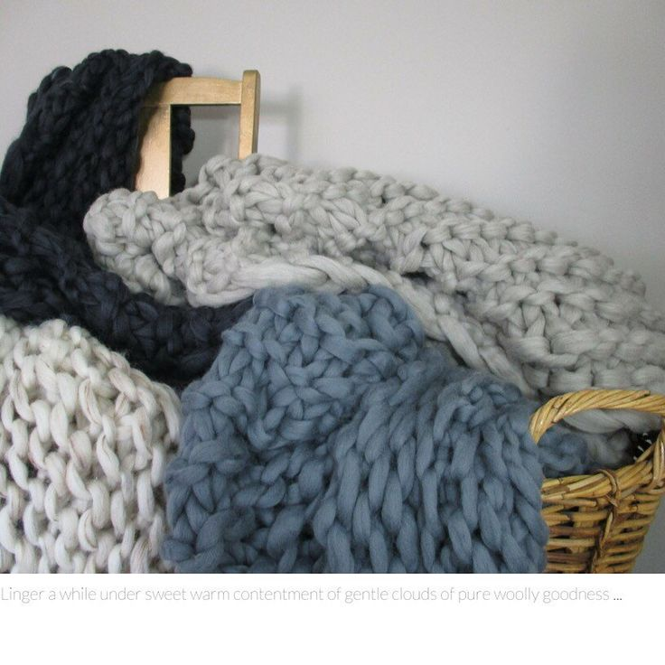 Let's get cosy.... Storm Clouds are your lighter, snugglier chunky big knit blanket.  Big cosy puffs of dreamy soft Australian Merino wool, perfect for winter snuggle time