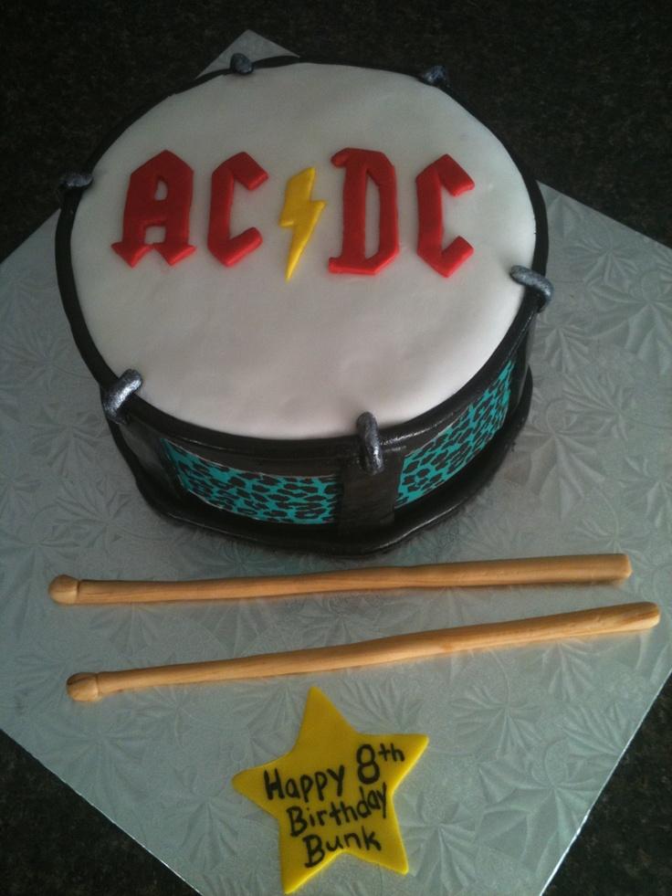 AC/DC drum cake