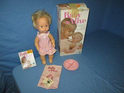 Vintage Original 1970s Kenner Baby Alive Doll It Poops