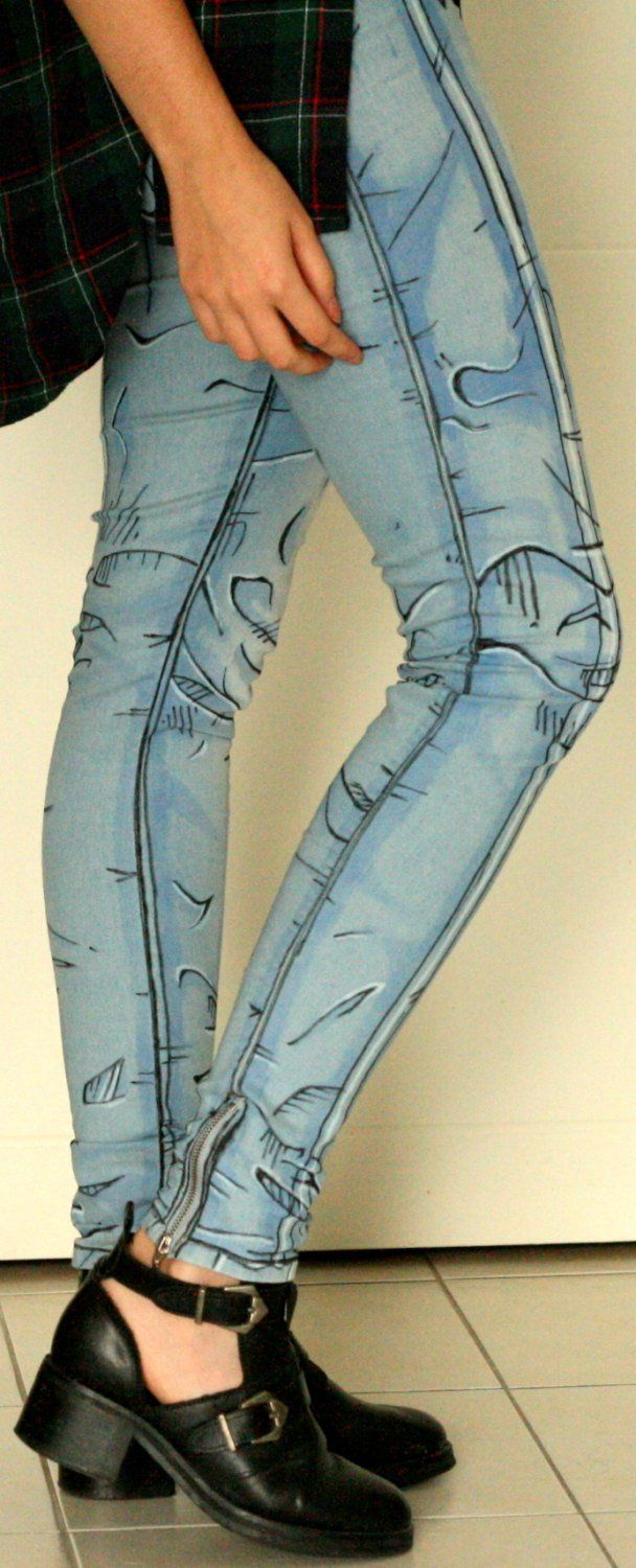 Cel-shaded jeans, now for sale! - Boing Boing