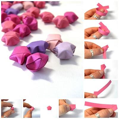 Manzuko- znaczy zadowolenie: Małe gwiazdki origami