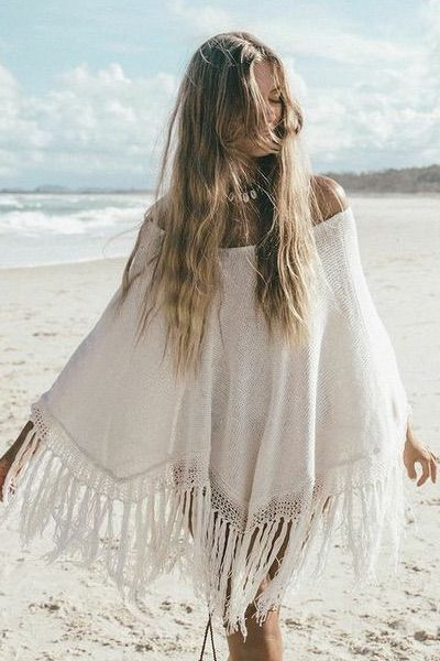 More pretty stuff here facebook.com/BohoWeekend  Boho Poncho Dress | Boho Dresses | White Bohemian Store