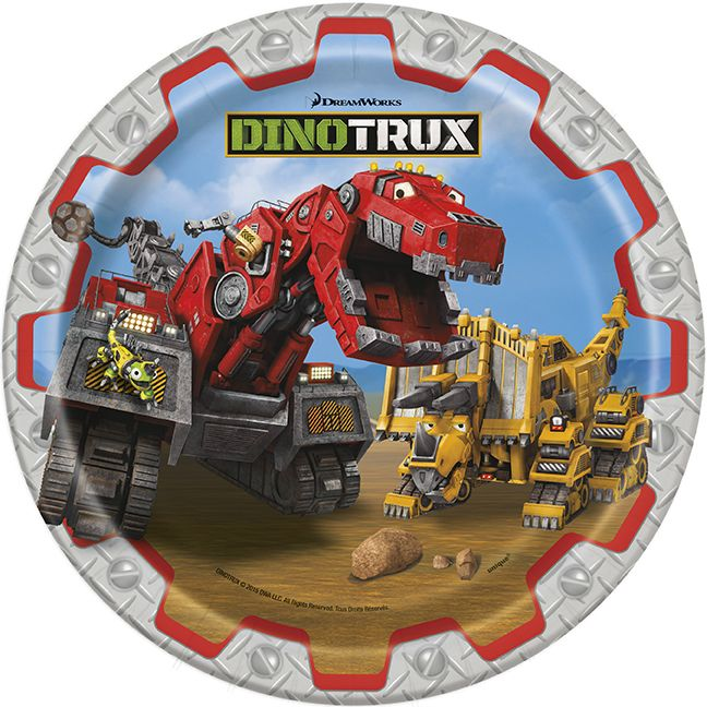 Dinotrux Ty Plates Anderson S 2nd Birthday Pinterest