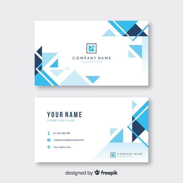 Abstract Business Card Template Free Vector Free Vector Freepik V Free Business Card Templates Business Cards Vector Templates Graphic Design Business Card