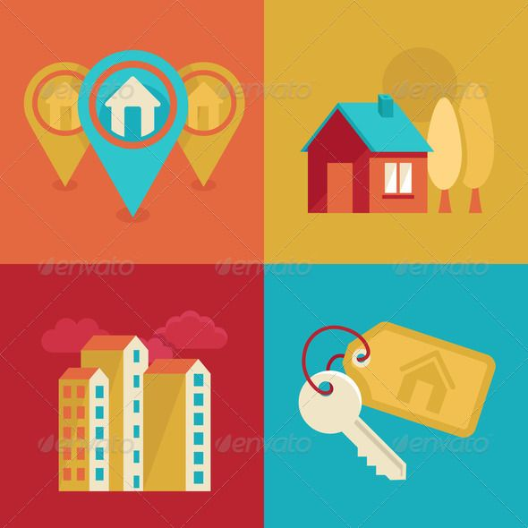 Real estate icons in flat style ... apartement, architecture, build, building, business, buy, city, commercial, concept, construction, corporate, cottage, design, dwelling, element, estate, gps, graphic, home, house, icon, illustration, industry, investment, key, label, landmark, loan, lodging, logo, mar, mortgage, office, property, real, rent, residence, roof, search, sell, shop, sign, symbol, template, tenant, town, tree, trendy, urban, window Jim Pellerin