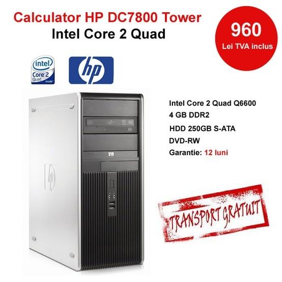 Procesor Intel Core2 Quad Q6600 2400 MHz, 8 MB Cache, 1066 MB MHz GB DDR2 HDD 250GB SATA Memorie 256 MB DVD-RW
