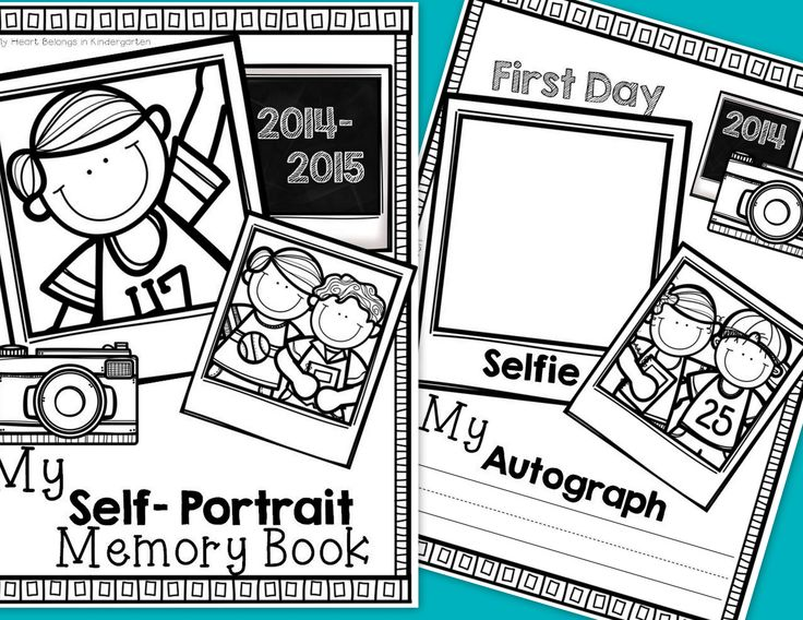 "Month-by-month self portraits and handwriting samples are a great way to monitor student growth. Plus, they are perfect to share at parent-teacher conferences or to include in memory books!   This set includes monthly self-portrait pages plus pages for the first/last days of school. Simply have your students draw a ""selfie"" each month throughout the school year. Don't forget to get their autograph too! Add a cover to your year-long collection to create a keepsake parents will love…"