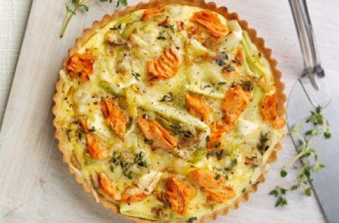 James Martin's salmon, thyme and leek tart recipe - goodtoknow