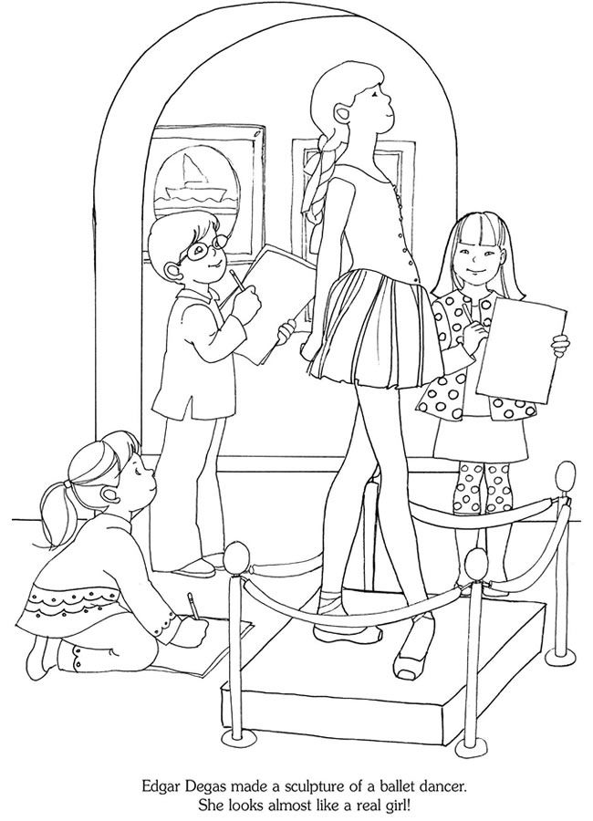 The Art Museum: A Sticker Story Coloring Book Dover
