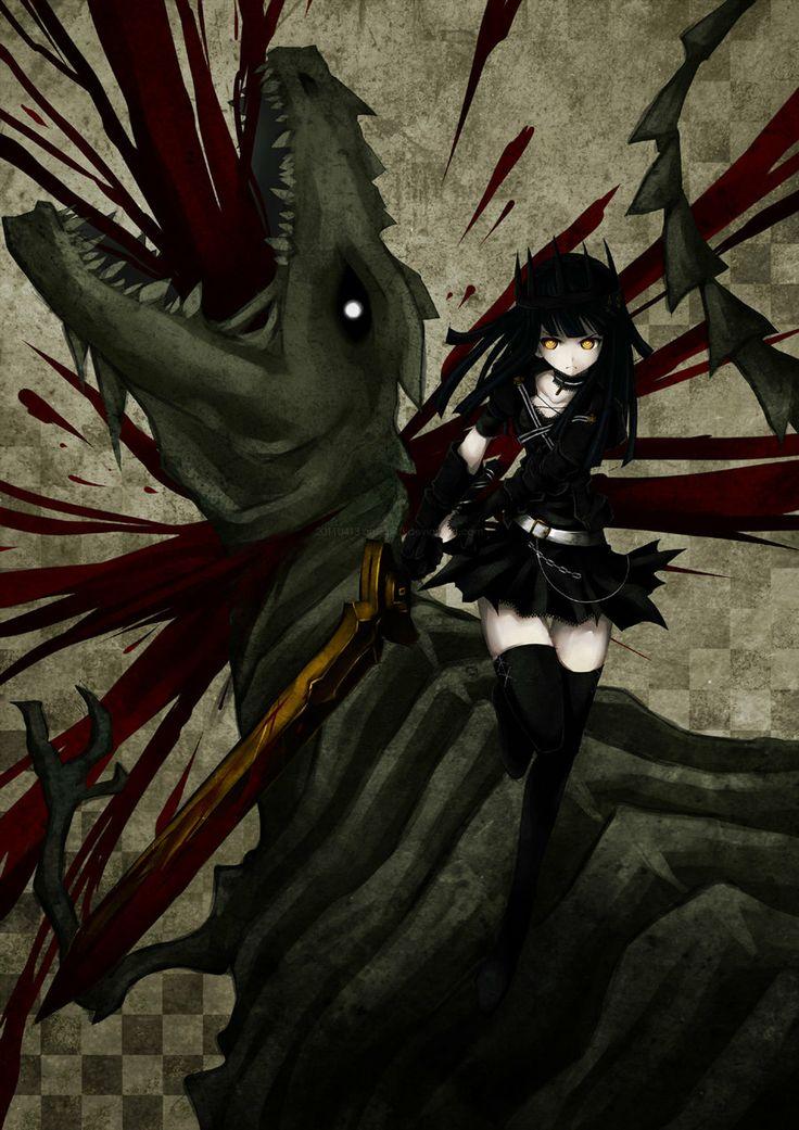 Dragon Slayer Black Rock Shooter Pinterest Art and