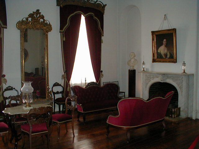 The Morning Room at Arlington House, the home of Gen. Robert E. Lee, in Arlington National Cemetery, Arlington, VA