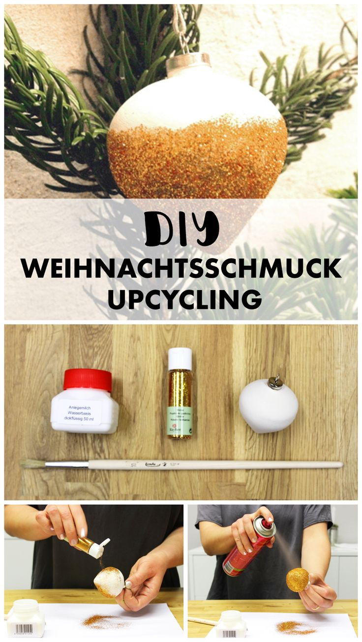 Einfache Anleitung, um ungeliebten Weihnachtskugeln neuen Glanz zu verpassen.