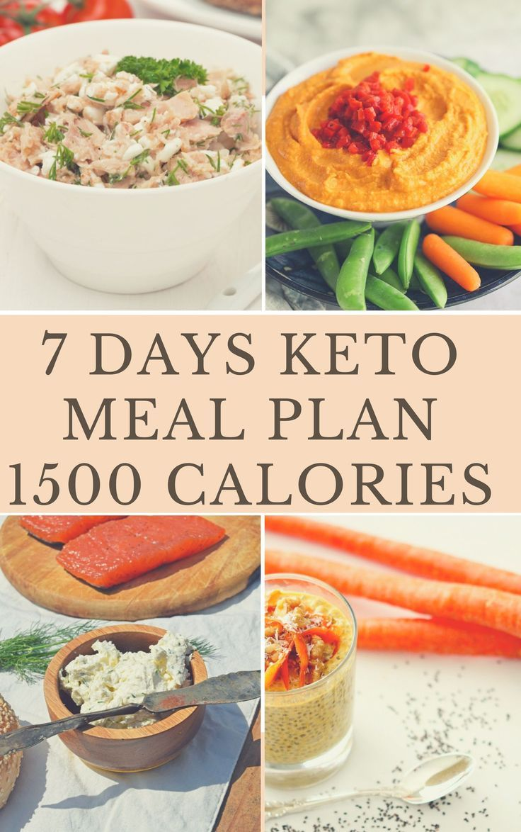 i need a keto diet of 1500 calories