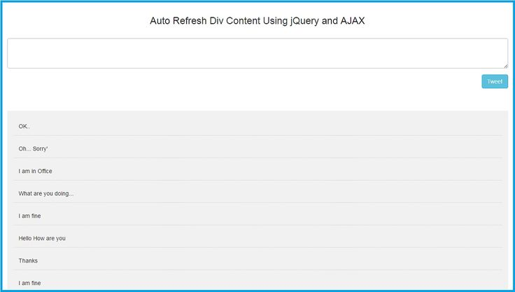 ajax auto refresh div example