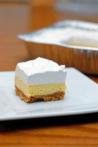 Freezable Lemon Bars - always have a delicious dessert on hand! And, it doesn't hurt that it's the hub's new favorite...