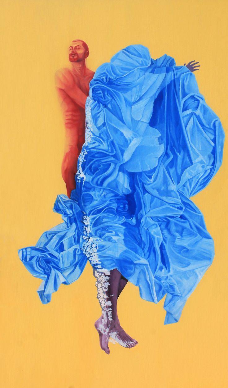 """Cruces Fronterizos"" Oleo sobre tabla Dimensiones: 159cm x 91,5cm (2015)"