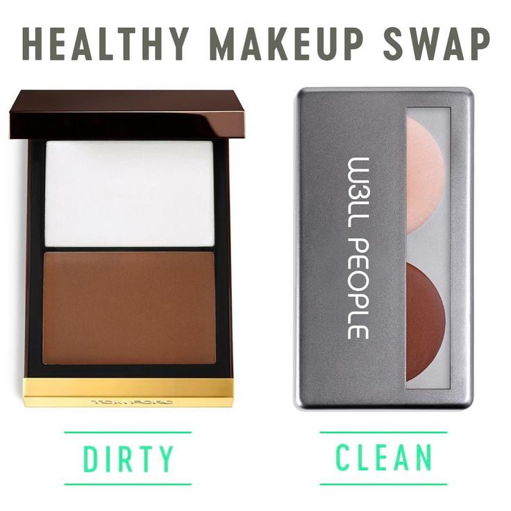Makeup swap for clean ingredients - swap out Tom Ford contour for w3ll people highlight and contour duo