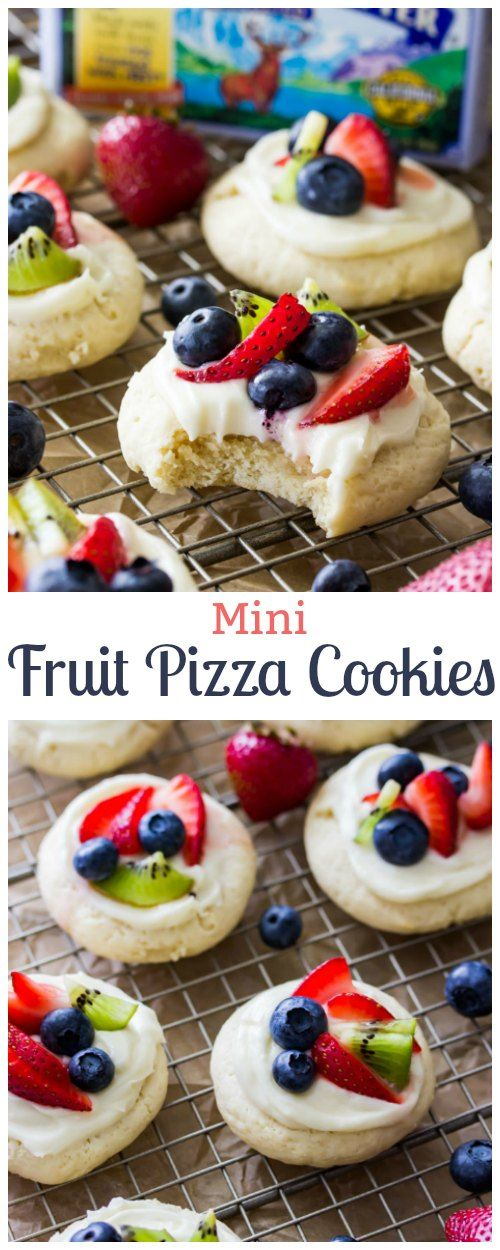 Mini Fruit Pizza Cookies sponsored by Challenge Butter!  #sponsored #ad #cookies via @sugarspunrun