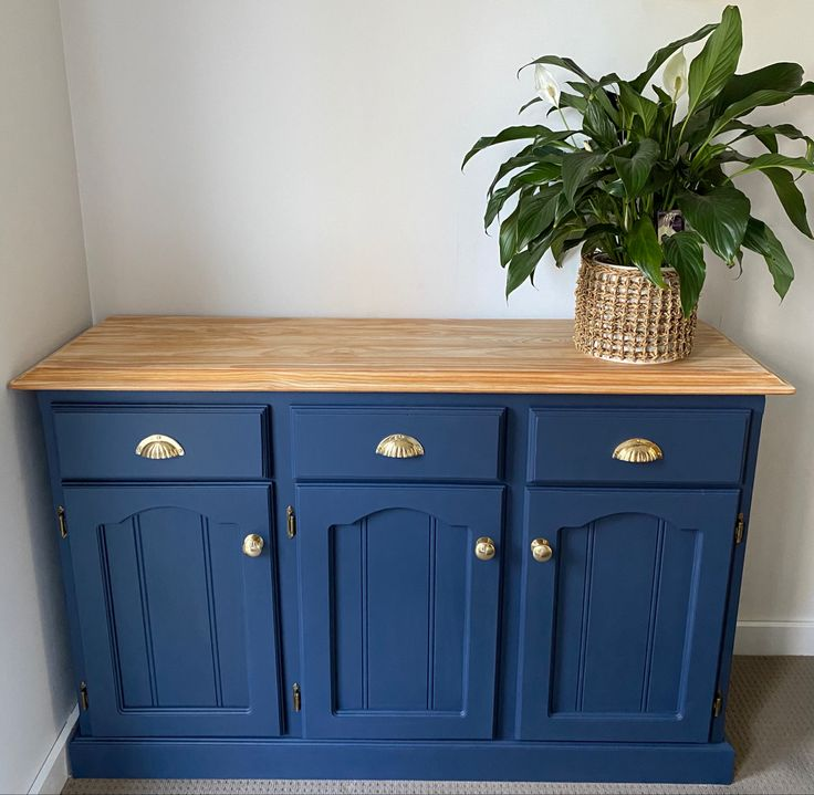 Up Cycled Buffet Cabinet | Furniture, Blue furniture ...