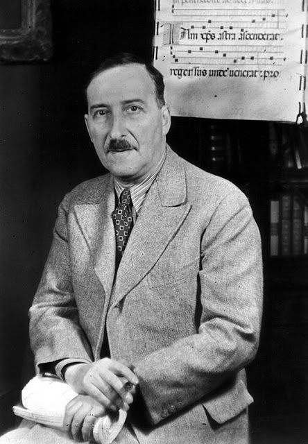 """Stefan Zweig, 1939. photographed by Giséle Freund   """"Stefan Zweig (German: [tsvaɪk]; November 28, 1881 – February 22, 1942) was an Jewish Austrian novelist, playwright, journalist and biographer. At the height of his literary career, in the 1920s and 1930s, he was one of the most popular writers in the world."""""""