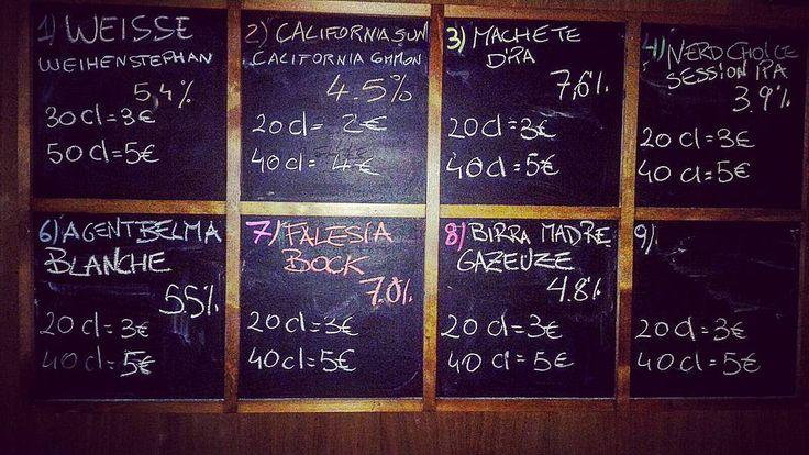 Ringraziate chi si è seduto al banco ieri sera per la #taplist di questa sera :) #session #ipa #dipa #gazeuze #blanche #bock #weisse #california #common #etimue #pub #birreria #birra #hamburger #piadina #piadineria #acireale #acirealeedintorni #catania