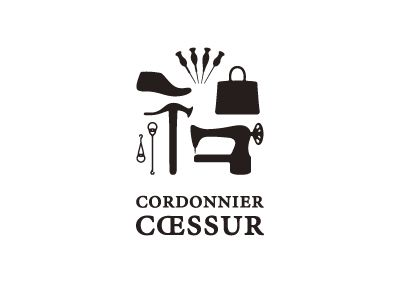CORDONNIER CŒSSUR / shoes repair shop / naming / logo / FROM GRAPHIC