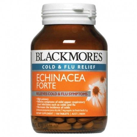 Blackmores Echinacea Forte 150 Tablets at Megavitamins Supplement Store Australia.Blackmores Echinacea Forte is high Potency and Supports healthy function of the immune system. Blackmores Echinacea Forte decrease the incidence of colds.