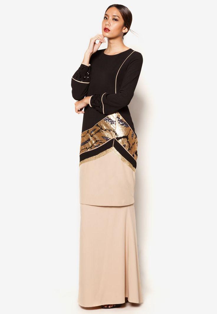 Buy Jovian Mandagie for Zalora ArtDeco Arriana Baju Kurung Online   ZALORA Malaysia