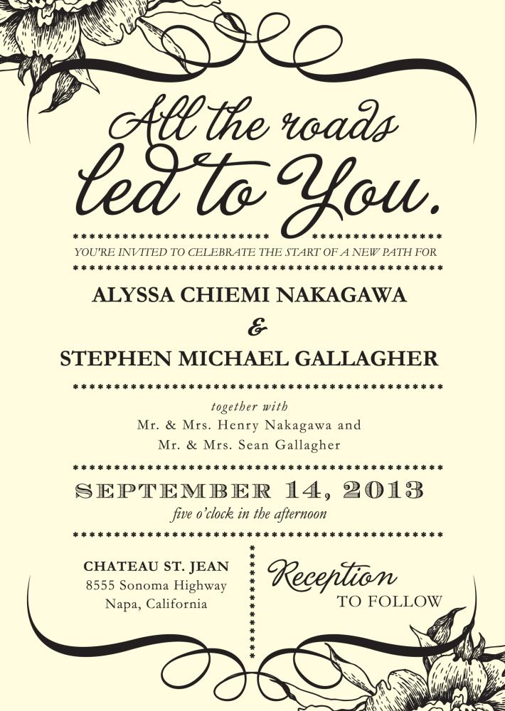 Writing wedding invitations and Wedding invitations