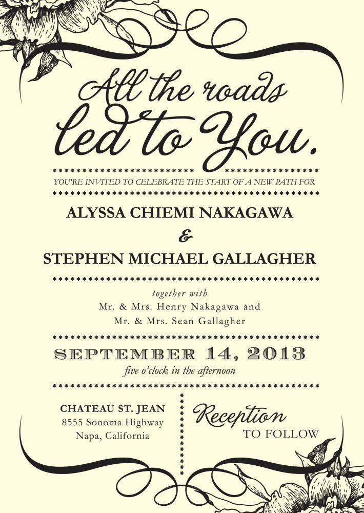 25 best ideas about Wedding invitation wording – Sample Wedding Invitation Template