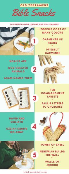 More great snacks to reach kids with Bible lessons