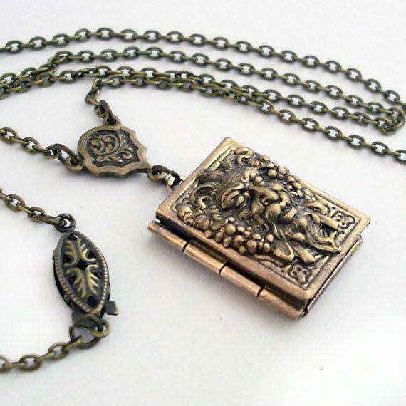 Beauty and the Beast - Bronze Book Locket