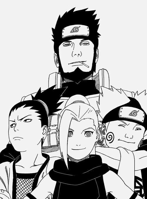 Team 10 Asuma&Shikamaru&Ino&Choji