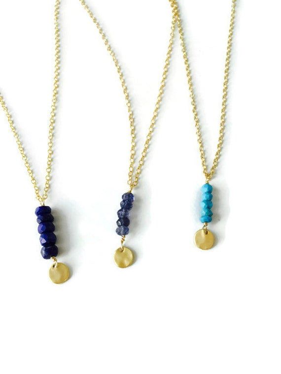 Lapis lazuli opal iolit pendant silver chain pendant lapis opal gemstones necklace blue silver gifts for mothers