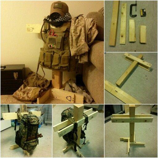 My Personal Wooden Body Armor Stand Milspec Pinterest
