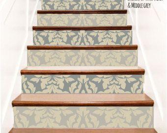 Decoratieve Brocade Vinyl trap Decals. Decor stappen Riser Stickers zelfklevend behang. Uw keuze van kleur en hoeveelheid