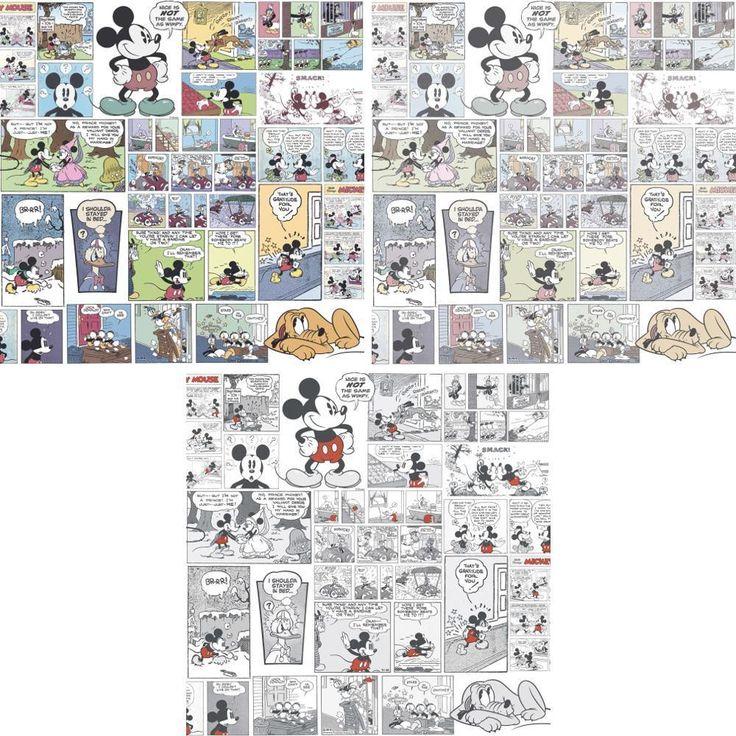 NEW OFFICIAL DISNEY MICKEY MINNIE DONALD DUCK COMIC CARTOON CHILDRENS WALLPAPER in Home, Furniture & DIY, DIY Materials, Wallpaper & Accessories | eBay!