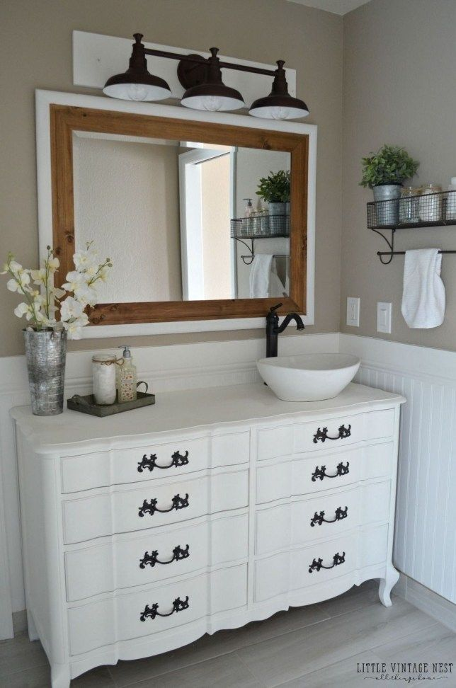 Vintage Farmhouse Bathroom Remodel Ideas On A Budget 13
