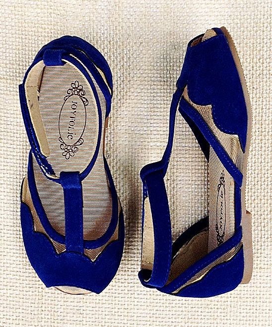 Ultramarine Blue Stella T-Strap Sandal