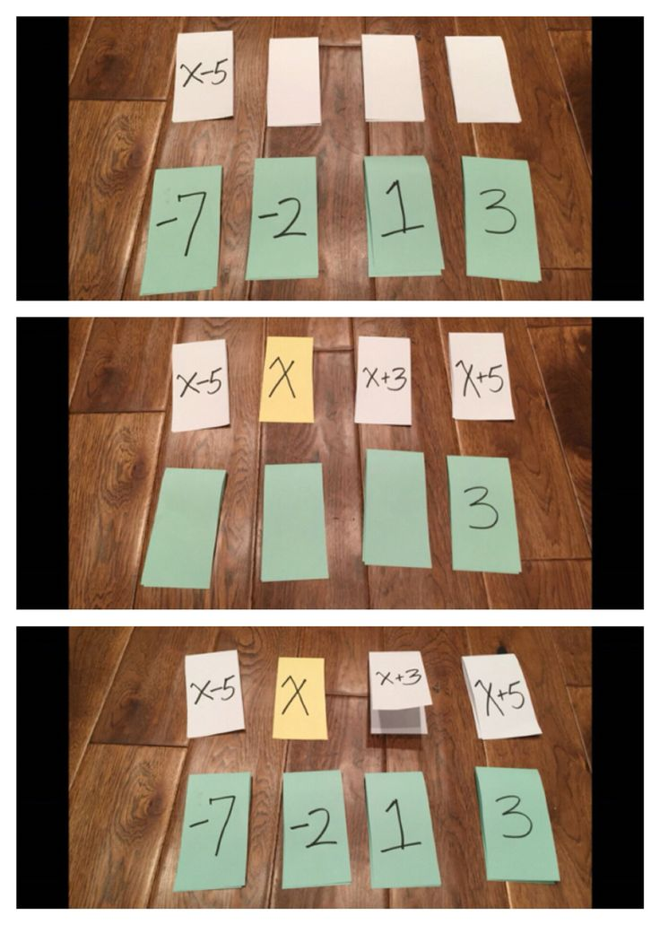 Use clothes line with expressions. Students place the cards from lest to greatest.