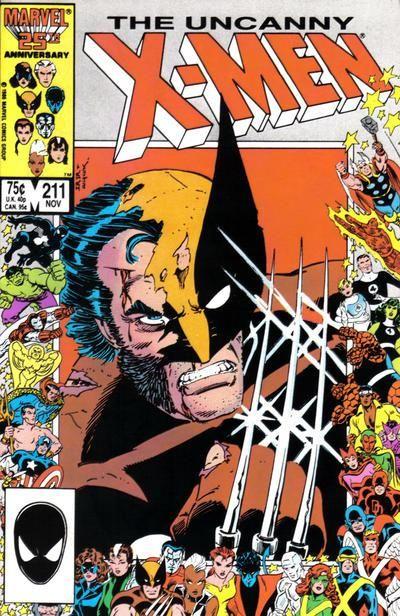 The Uncanny X-Men #211  Wolverine comic books comics Marvel 25th