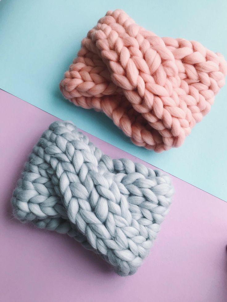 Excited to share the latest addition to my #etsy shop: Headband - Chunky Merino Wool - Knit turban. Wool knit ear warmer, knit twist headband, women's knit headband