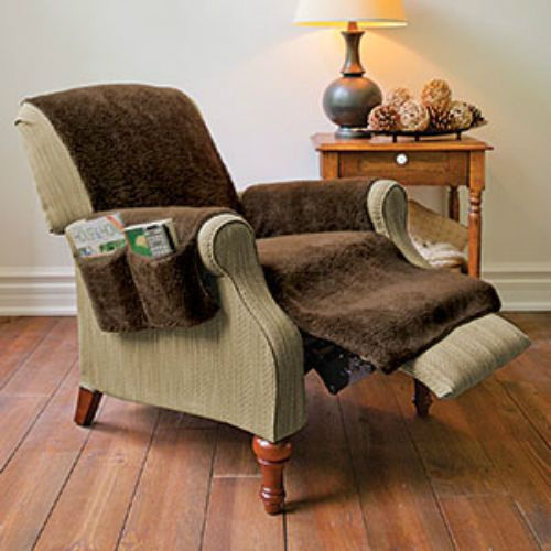 Fleecy Recliner Chair Cover