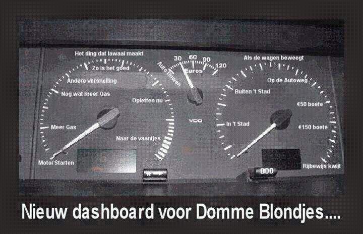 Dashboard voor domme blondjes