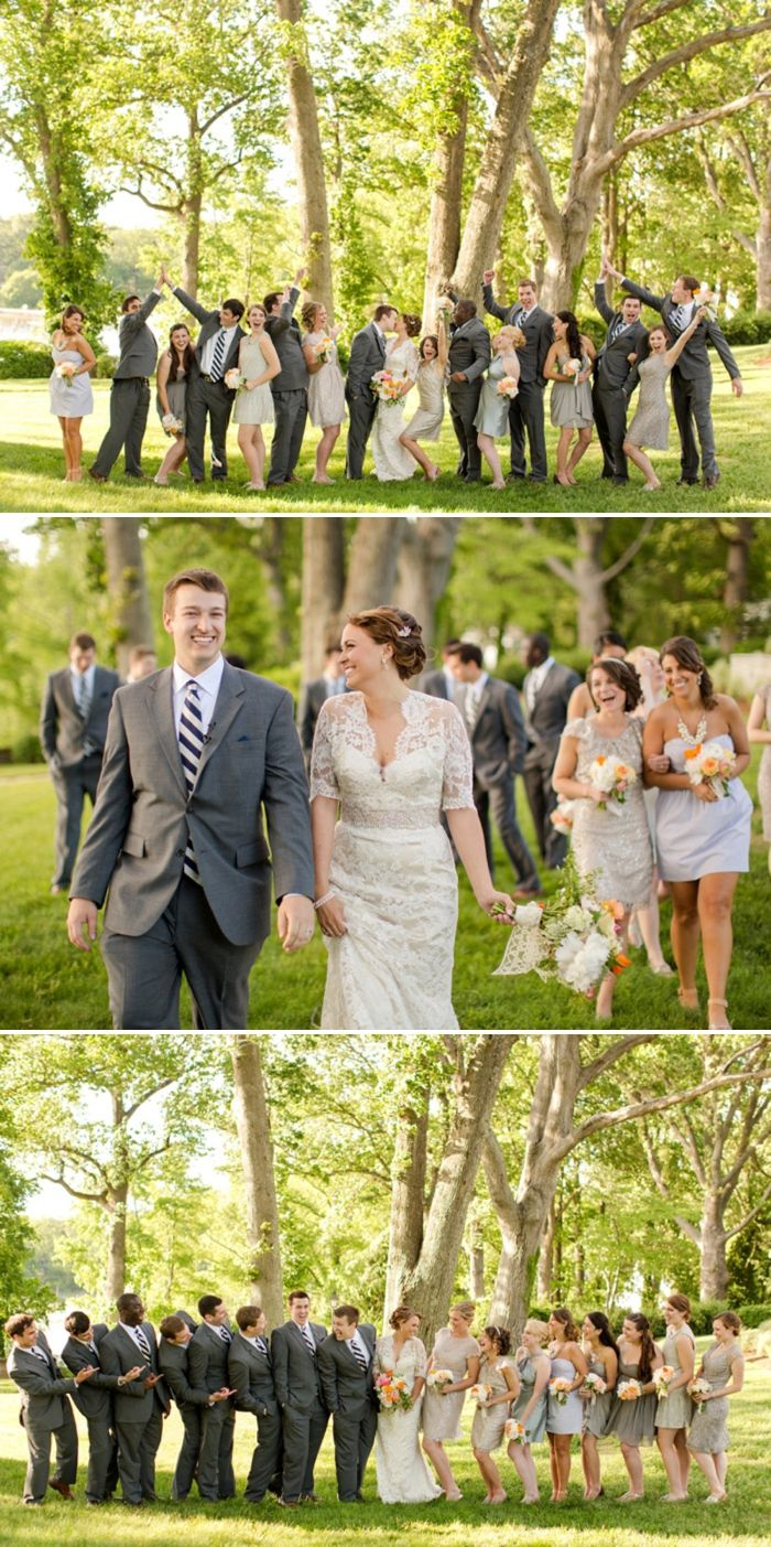Wedding Bridal Party Portrait Pose Photography Weddings