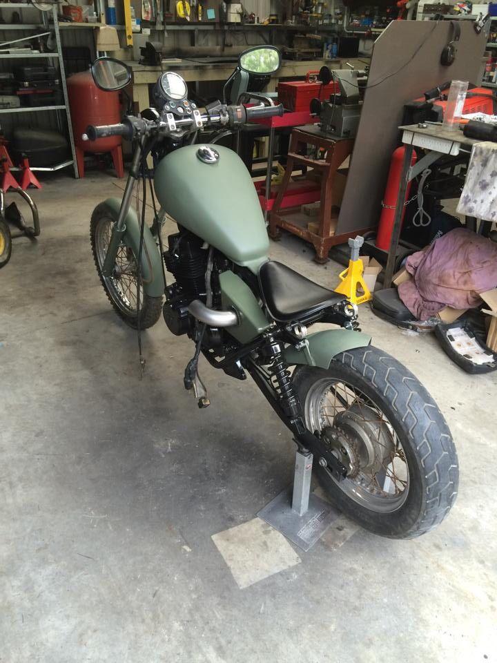 Honda rebel custom military bobber by JD customs
